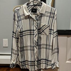 Rails flannel button down